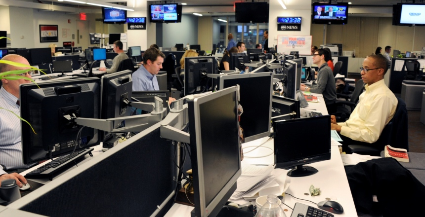 Photo of employees working at ABC News New York