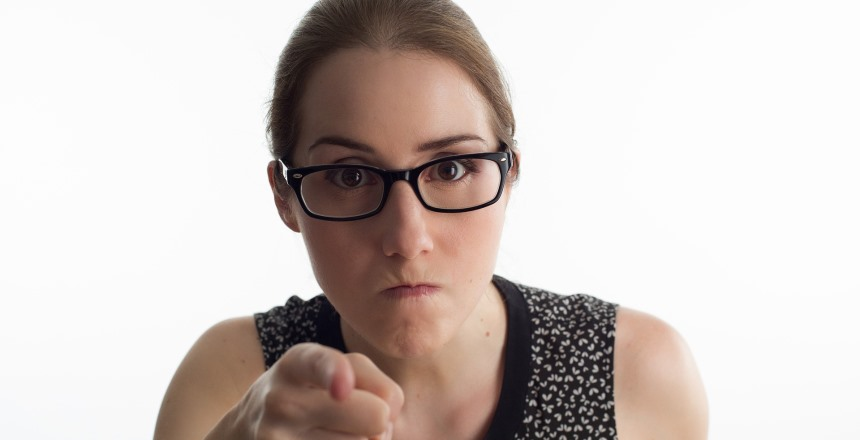 Aggressive Businesswoman