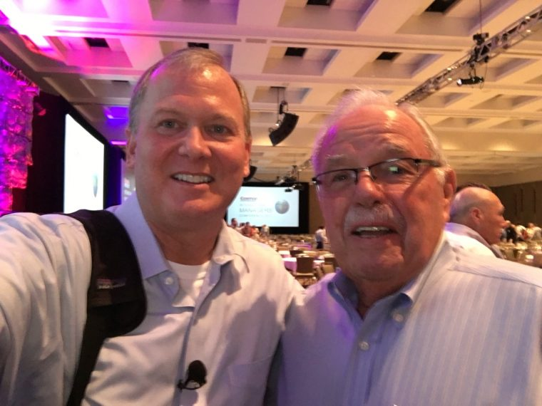 Michael Stallard with Jim Sinegal, co-founder of Costco