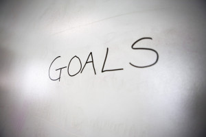 "Word ""Goals"" on Whiteboard"