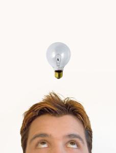 Man having an idea