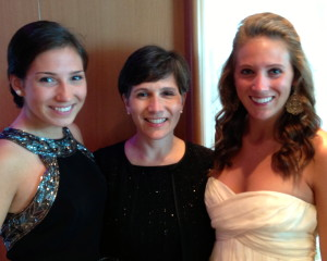 Katie Stallard with daughters Elizabeth and Sarah