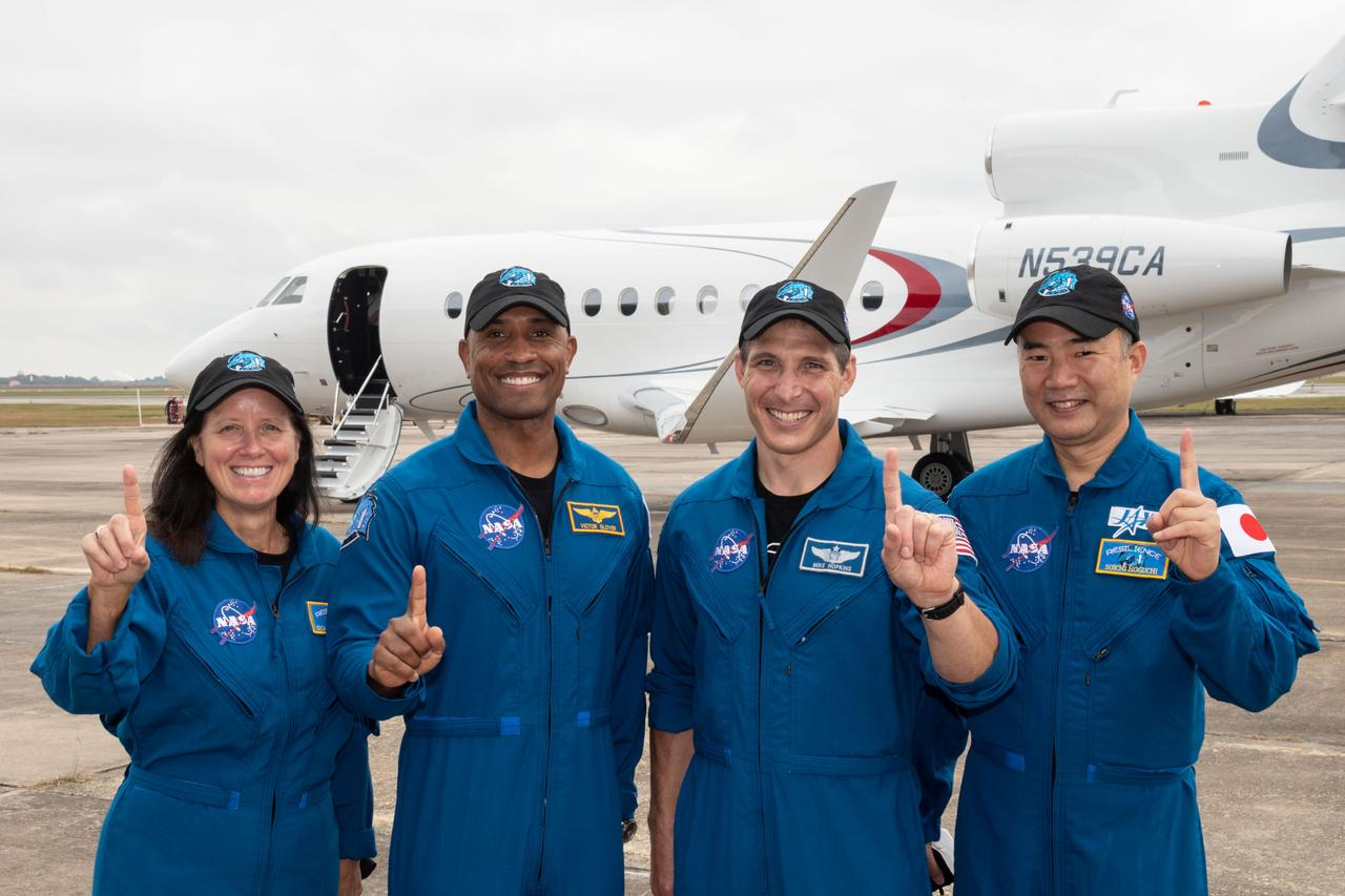 NASA/SpaceX Crew-1 Departs for KSC