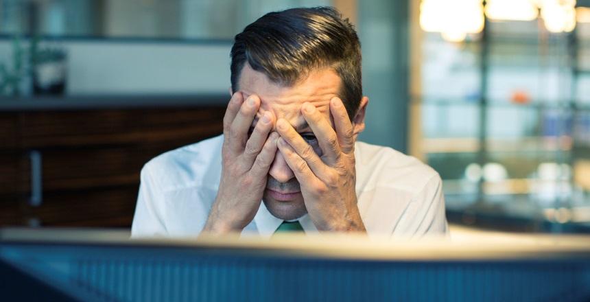 Man suffering from job stress