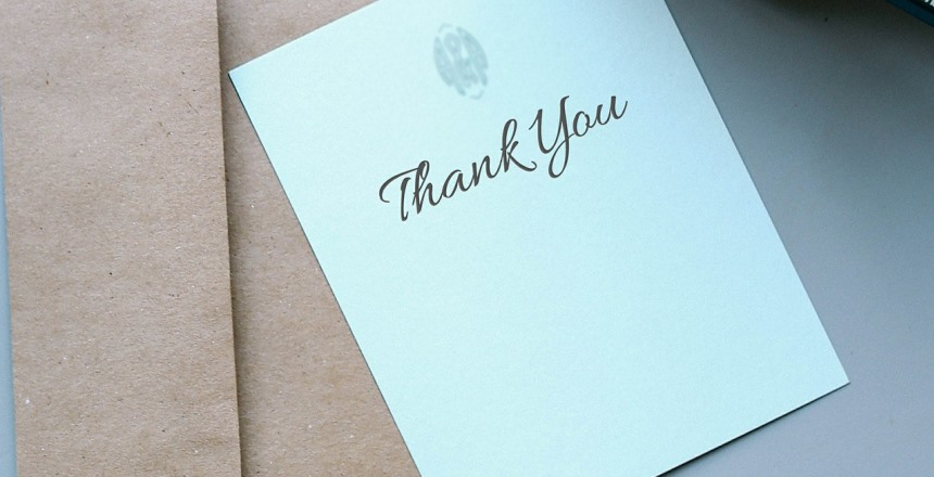 Thank you card to express gratitude