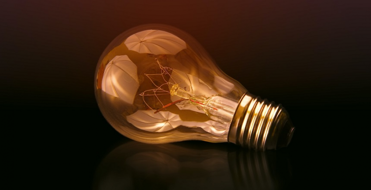 Light bulb representing innovation