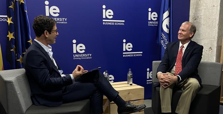 Lee Newman interviews Michael Lee Stallard at IE University