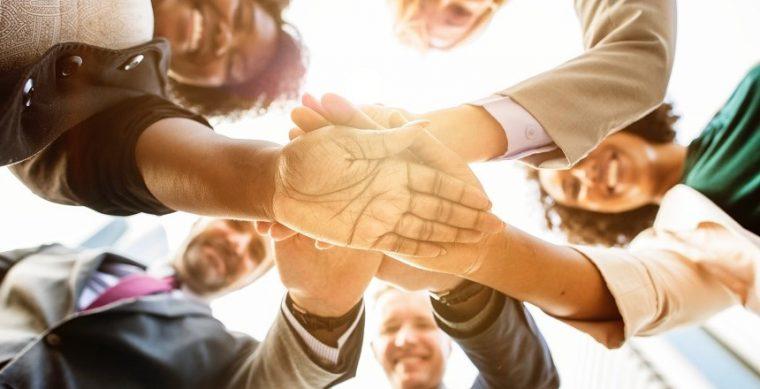 Optimistic business leaders